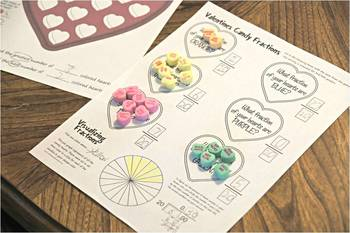 Valentines Day Candy Box Math (Game & Worksheets)