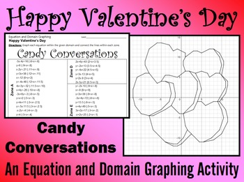 Valentine's Day - Candy Conversations - A Linear Equation