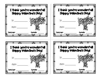 Valentines Day Candy-Gram Printables