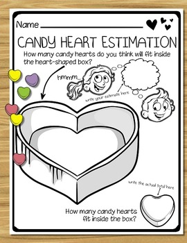 Valentine's Day Candy Heart Math - Activities & Printables