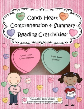 Valentine's Day Candy Heart Comprehension and Summary Reading Craftivities!