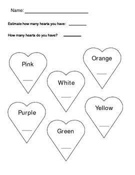 Valentine's Day Candy Heart Graph Complete Lesson Plan