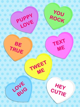 Valentines Day Candy Hearts Clip Art