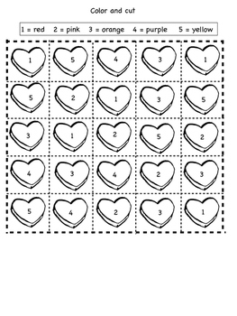 Valentines Day Candy Hearts Graph