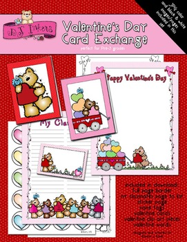 Valentine's Day Card Exchange Kit