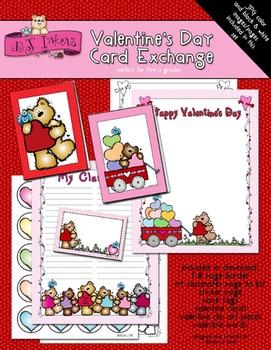 Valentine's Day Card Exchange Kit