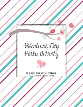 Valentine's Day Card - Poetry Activity (Haiku) Common Core Aligned