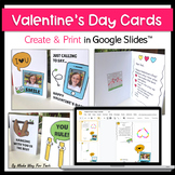 Valentine's Day Card Templates for Students and Teachers | Google Classroom™