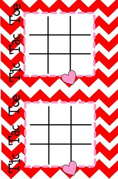 Valentine's Day Card-Tic Tac Toe Activity