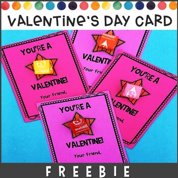 Valentines Day Card | You're A Star Valentine! FREE