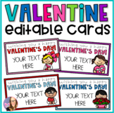 Editable Valentine Cards for Students