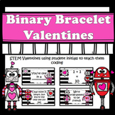 Valentines Day Cards - Binary Bracelets