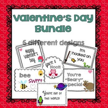 Valentine's Day Cards Bundle