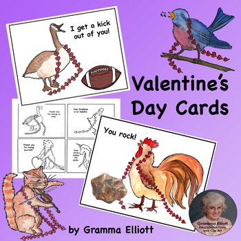 Valentine's Day Cards in Color and BW - Ready to Color