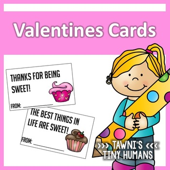 Valentine's Day Cards - Cupcake Themed