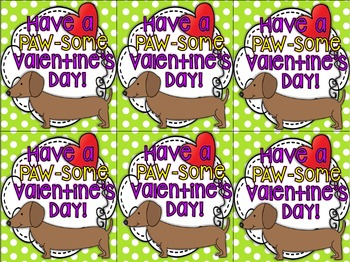 Valentine's Day Cards~ Dachshund Themed  FREEBIE