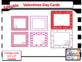 Valentines Day Cards Editable