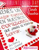 Valentine's Day Cards Freebie in Spanish and English