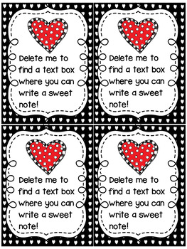 Valentine's Day Cards, Bookmarks, and Bag Tags. Editable! Personalize!