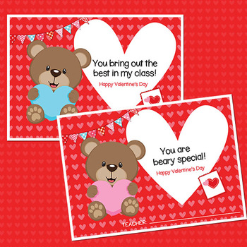 Valentine's Day Cards for Students from Teachers
