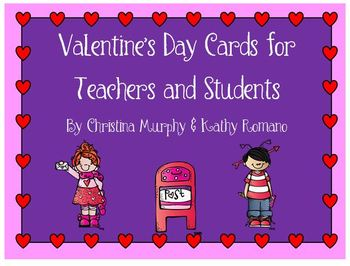 Valentine's Day Cards for Teachers and Students
