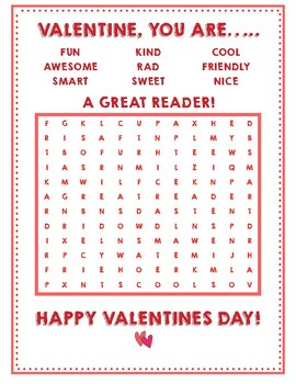 Valentines Day Cards for your Super Reader!