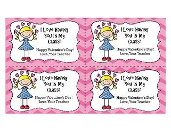 Valentine's Day Cards from Teacher