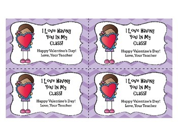 Valentine's Day Cards from Teacher