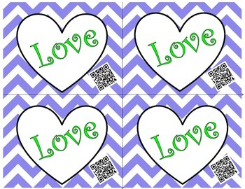 Valentine's Day Cards (Hearts) with Fun QR Codes