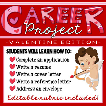 Valentine's Day Career Project & Activities (job search skills)
