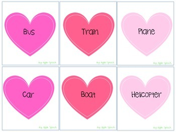 Valentine's Day Categories and Irregular Plurals Speech and Language (CCSS)