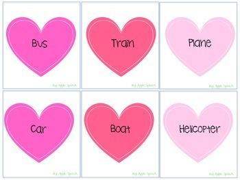Valentine's Day Categories and Irregular Plurals Speech and Language (CCSS)