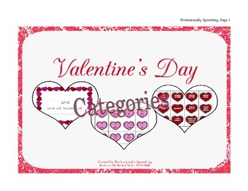 Valentine's Day Category Freebie!