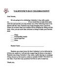 Valentine's Day Celebration Letter- English & Spanish