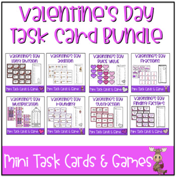 Valentine's Day Mini Task Cards: BUNDLE