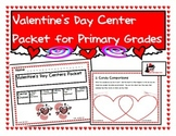 Valentine's Day Center Packet for First and Second Grade