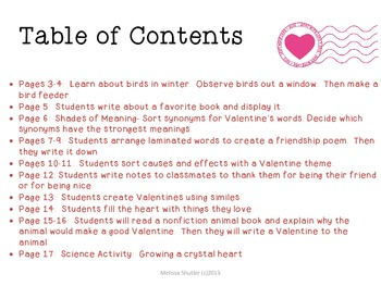 Valentine's Day Centers for Reading