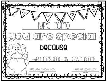 Valentine's Day Certificate / Gift {Freebie}