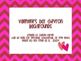 Valentine's Day Chevron Backgrounds