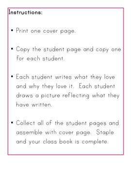 FREE:  Valentine's Day Class Book K-2
