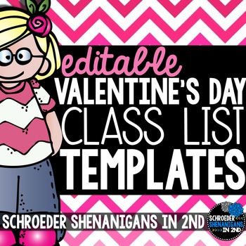 Valentine's Day Class List