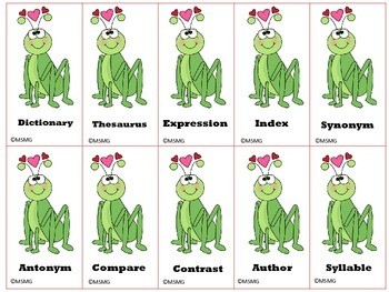 Valentine's Day Classroom Vocabulary