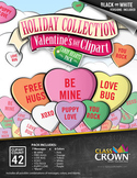 Valentine's Day Clip Art, Clipart - Candy Hearts Pack