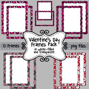 Valentine's Day Clip Art Frames & Borders for Commercial Use