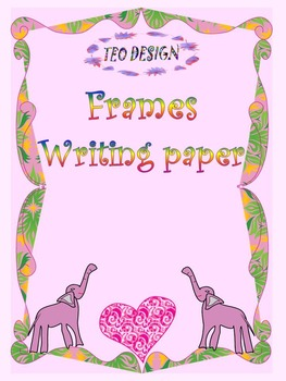 Elephants - Frames - Writing paper - Hearts - Clip Art - Valentine's Day