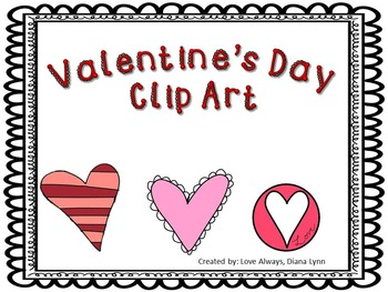 Valentine's Day Clip Art Mega Pack Hearts & Sayings