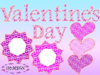 Valentine's Day - Hearts - Numbers - Clip Art - Personal or Commercial Use