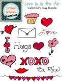 Valentine's Day Clip Art and Line Art [Freebie!]