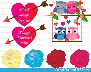 Valentine's Day Clip Art school Printable birthday party roses love angel -031-