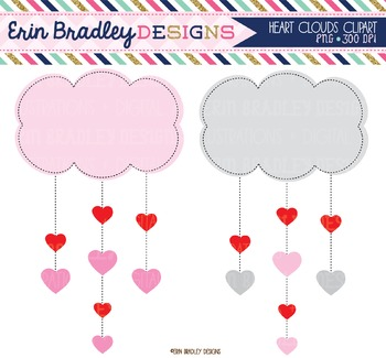 Valentines Day Clipart - Cloud Hearts